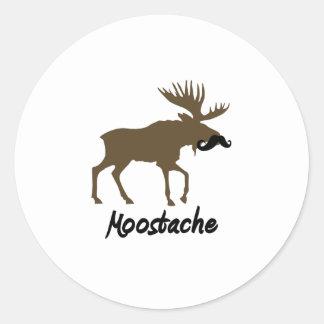 Moostache Classic Round Sticker