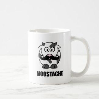 Moostache Classic White Coffee Mug