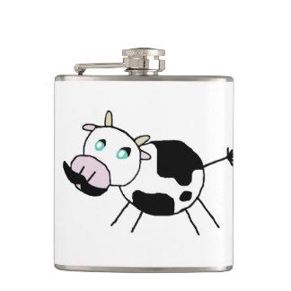 Moostache Hip Flask