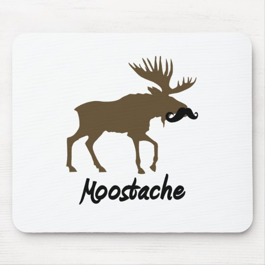Moostache Mouse Pad