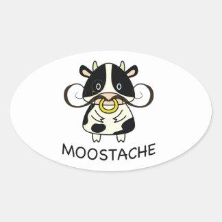 Moostache Oval Sticker