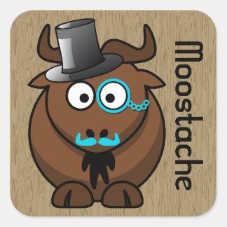 Moostache Square Sticker
