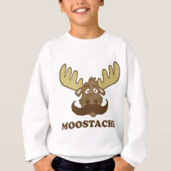 Kids' American Apparel Organic T-Shirt with Moose + Mustache = Moostache design