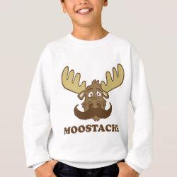 Kids' American Apparel Organic T-Shirt with Moose + Mustache = Moostache design