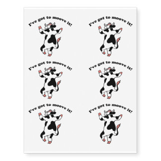 Moove It Temporary Tattoos