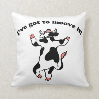 Moove It Throw Pillow