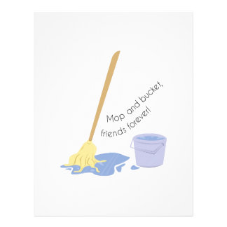 Mop And Bucket Customized Letterhead