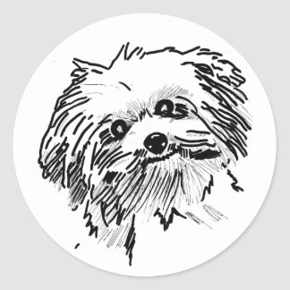 Mop Dog Classic Round Sticker