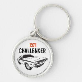 Mopar - 1971 Dodge Challenger Silver-Colored Round Keychain