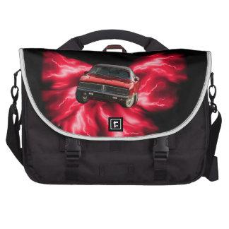 Mopar 69 Charger on red lightning Bags For Laptop