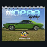 "Mopar Calendar<br><div class=""desc"">Mopar calendar featuring both classic and modern American muscle cars. From Challengers,  Chargers,  GTX,  Hemi,  Road Runners and more. Enjoy both Dodge and Plymouth cars in this professional photographed calendar by 454 Auto Art.</div>"