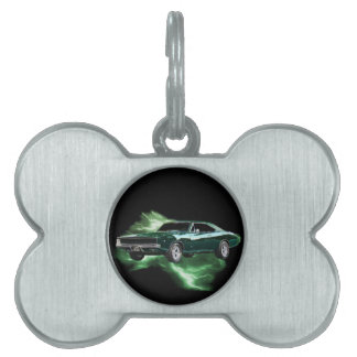 Mopar: 'Cargador de 68 Dodge con el relámpago Placas De Mascota