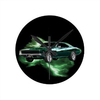 Mopar: 'Cargador de 68 Dodge con el relámpago Relojes De Pared