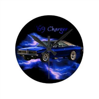 Mopar:  'Cargador de 69 Dodge Relojes De Pared