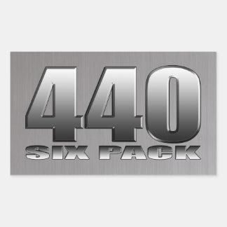 Mopar Dodge 440 Six Pack Rectangular Sticker