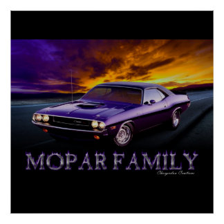 MOPAR FAMILY LARGE POSTER