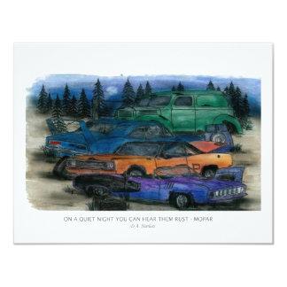 Mopar - on a quiet night you can hear them rust 4.25x5.5 paper invitation card