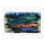 Mopar - on a quiet night you can hear them rust personalized invitation