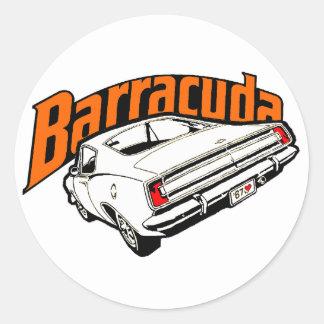 Mopar - Plymouth Barracuda Pegatina Redonda