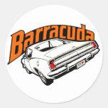 Mopar - Plymouth Barracuda Runder Sticker