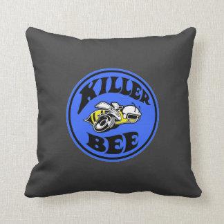 Mopar - super Bee - killer Bee - Blue Throw Pillows