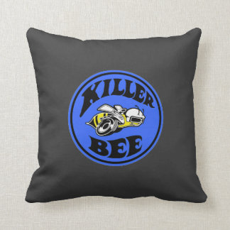 Mopar - super Bee - killer Bee - Blue Throw Pillow