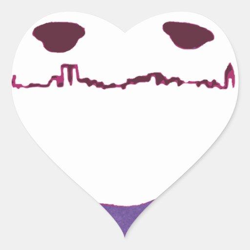 Mopey el monstruo de NY Pegatina En Forma De Corazón