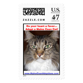 (Moprhy) Do your heart a favor...Adopt a Maine Coo Postage