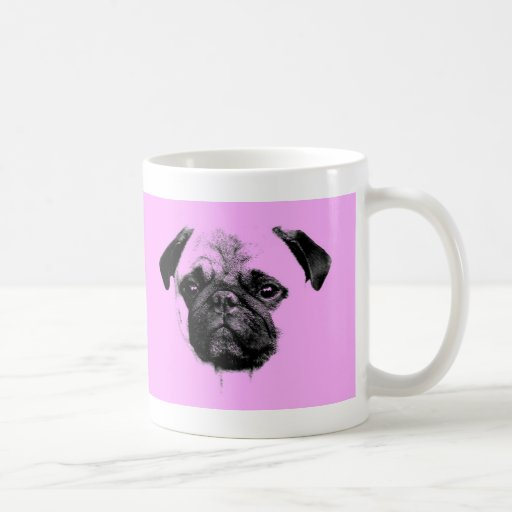 mops puppy classic white coffee mug