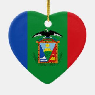 Moquegua, bandera de Perú Adorno Navideño De Cerámica En Forma De Corazón