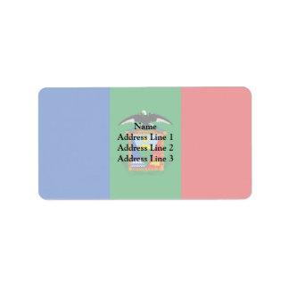 Moquegua, bandera de Perú Etiquetas De Dirección