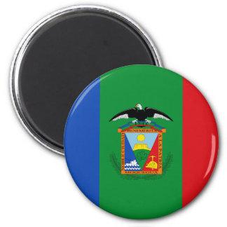 Moquegua, bandera de Perú Imán Redondo 5 Cm