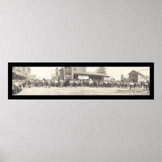 Mora EN la foto 1910 de la demostración del caball Impresiones