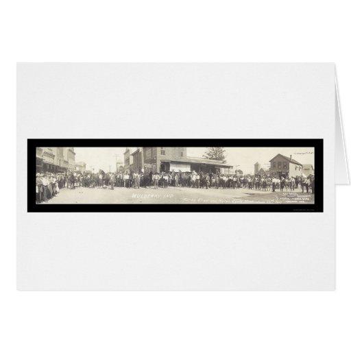 Mora EN la foto 1910 de la demostración del Tarjeta De Felicitación