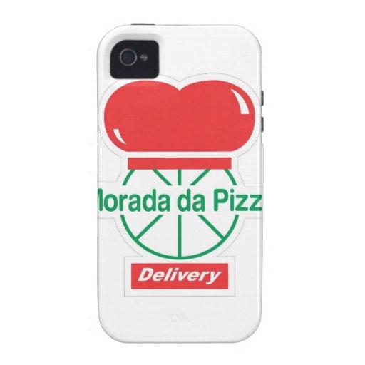 Morada da Pizza - Branco Capa De iPhone 4 Case-Mate