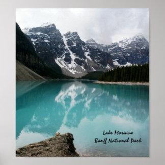 Moraine del lago, parque nacional de Banff Póster