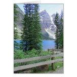 Moraine del lago tarjeta de felicitación