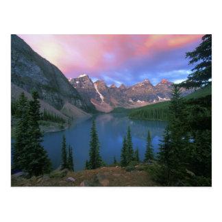 Moraine en el amanecer, Banff de Canadá, Alberta,  Postal
