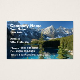 Moraine Lake 3 Business Card