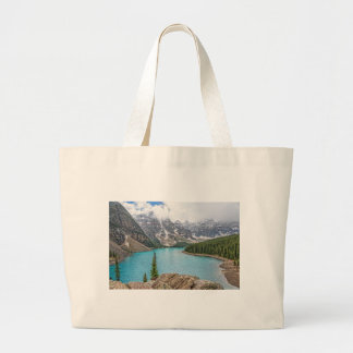 Moraine Lake After the Storm Large Tote Bag