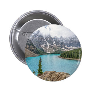 Moraine Lake After the Storm Pinback Button