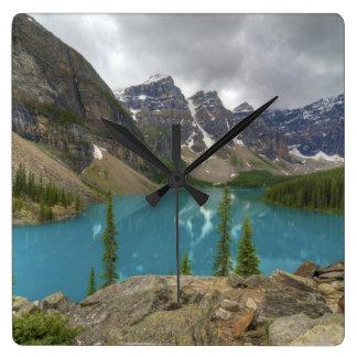 Moraine Lake Alberta Canada Square Wallclock