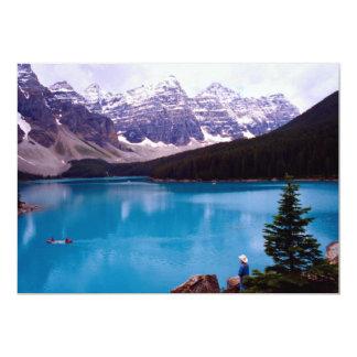 Moraine Lake, Alberta, Canada 5x7 Paper Invitation Card
