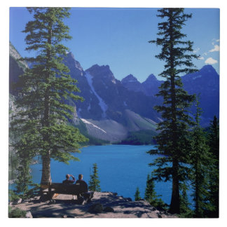 Moraine Lake, Banff, Alberta, Canada Ceramic Tile