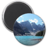 Moraine Lake, Banff National Park, Alberta, Canada 2 Inch Round Magnet