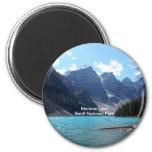 Moraine Lake, Banff National Park, Alberta, Canada 2 Inch Round Magnet