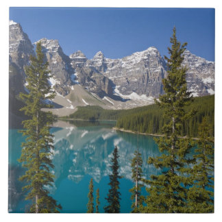Moraine Lake, Canadian Rockies, Alberta, Canada 2 Tile