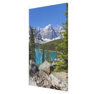 Moraine Lake, Canadian Rockies, Alberta, Canada Canvas Print