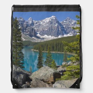 Moraine Lake, Canadian Rockies, Alberta, Canada Drawstring Backpack