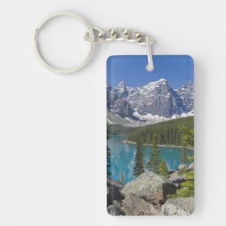 Moraine Lake, Canadian Rockies, Alberta, Canada Keychain